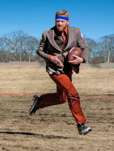 Joff running the football