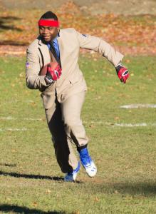 Raishown running the football